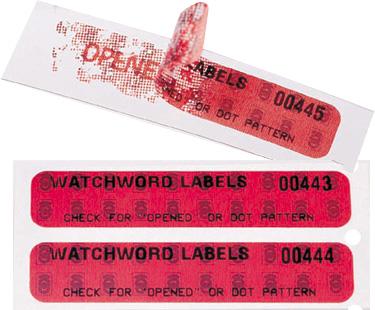 Les étiquettes de sécurité