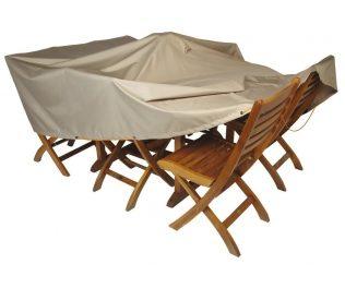 Super idée: une housse de protection pour table de jardin