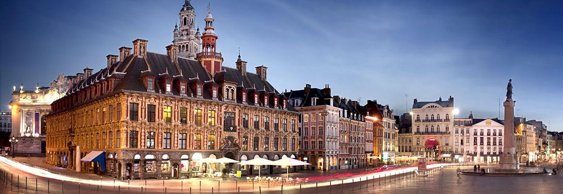 Grande place de la ville de Lille.