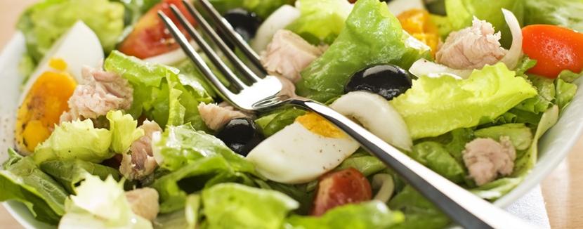 Livraison de salade à domicile.