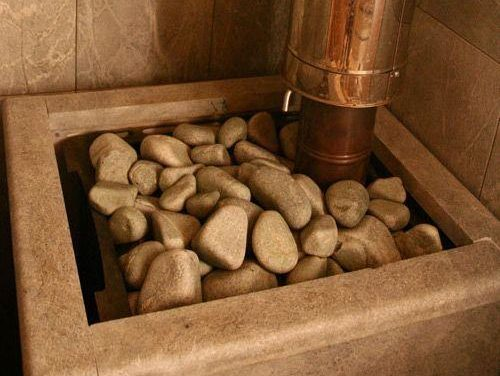 La pierre du sauna