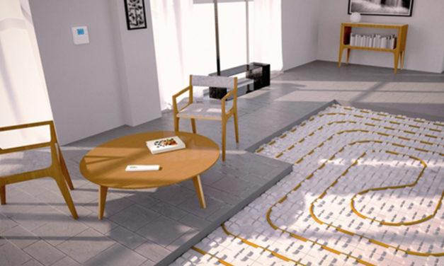Le plancher chauffant favorise le confort thermique