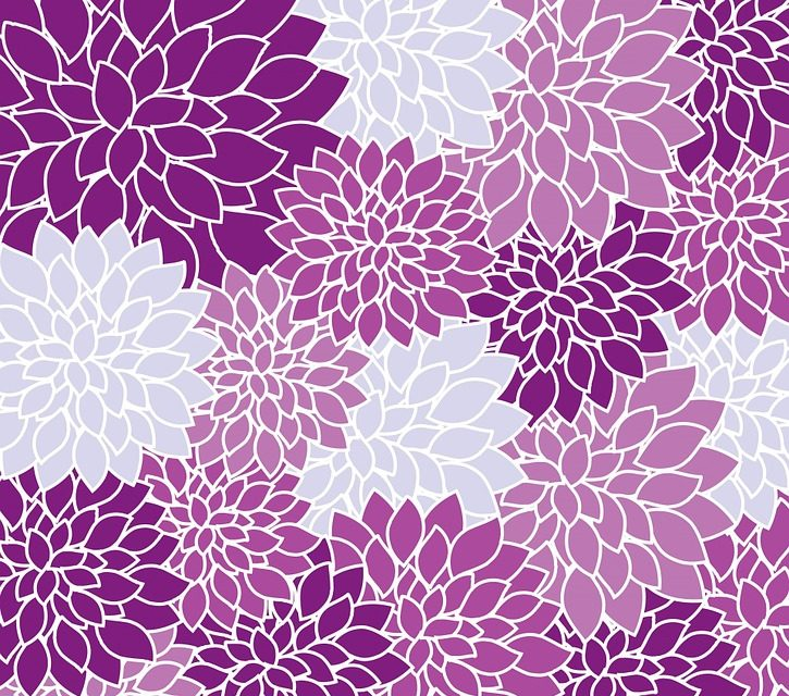 Les différents motifs de papier peint faits par les artistes
